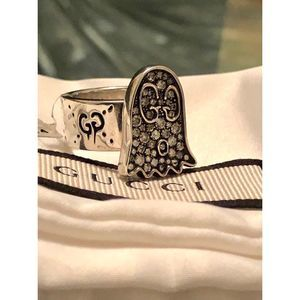 Gucci Ghost Gucci Ring with .5 Carat Grey Diamonds